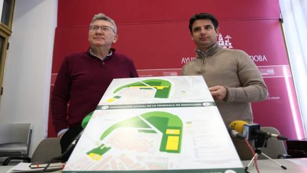 Pedro García y Emilio García con la propuesta para Miraflores