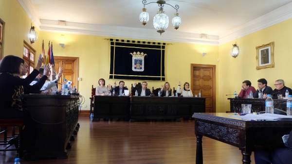 Pleno del Ayuntamiento de Tarazona.