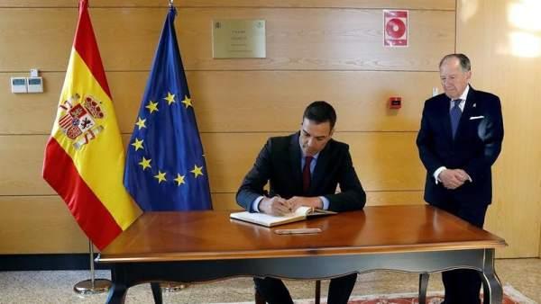 Pedro Sánchez, en la sede del CNI