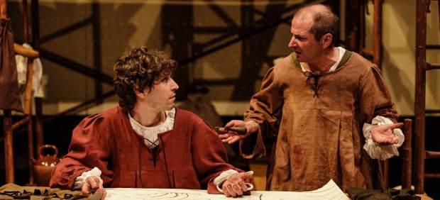 Els actors Pau Ferran i Oriol Grau, dos artistes al servei de Miquel Àngel.