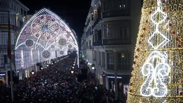 Luces de navidad en Málaga    07 diciembre 2018   (Foto de ARCHIVO)    07/12/20