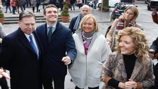Alfredo Canteli, Pablo Casado, Mercedes Fernández y Teresa Mallada