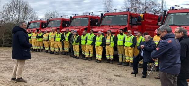 Presentación de la nuevas autobombas para extinción de incendios forestales