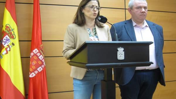 Susana Hernández Y Juan Vicente Larrosa Del PSOE