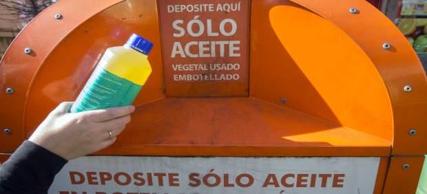 Contenedor de recogida de aceite usado
