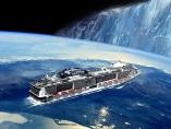 Montaje sobre el crucero que intentará demostrar que la Tierra es plana