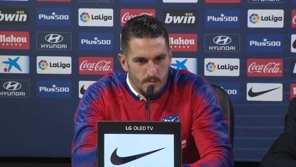 """Koke: """"Morata es un gran jugador"""""""