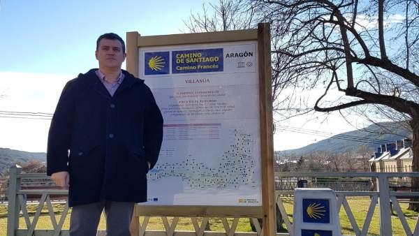 Gobierno de Aragón impulsa la mejora de la señalización del Camino de Santiago.
