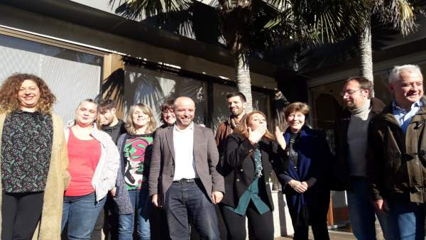 Foto de los integrantes de la coordinadora de En Marea