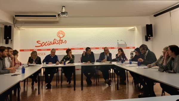 Comite electoral PSOE Alto Aragon.