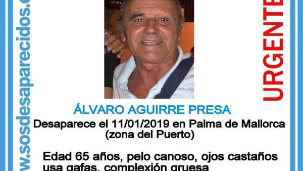 Cartel de desaparecido A. Aguirre Presa