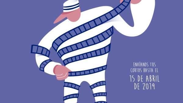 El cartel de esta octava edición es obra del diseñador gráfico Rubén Bellido