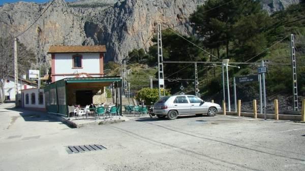 Estacion de El Chorro en Álora (Málaga)