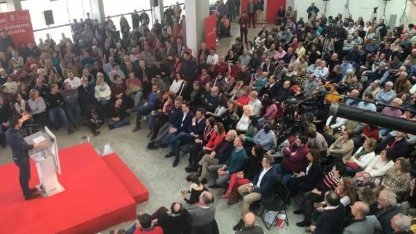Presentación de la candidatura de Luis Tudanca a la Junta de CyL