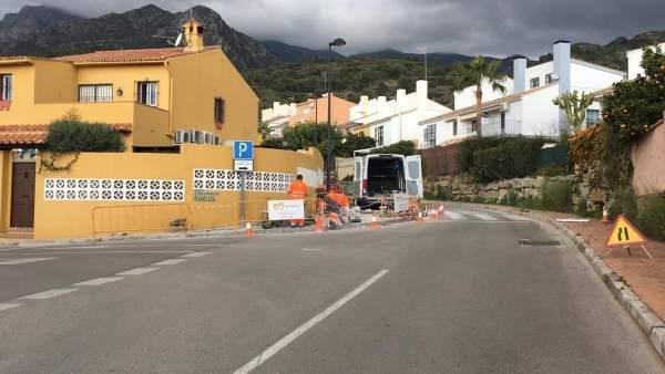 Obras, calles, Marbella