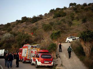 Guardia Civil y bomberos