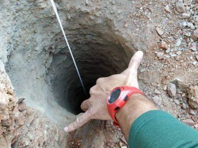 Un pozo de 25 centímetros de diámetro