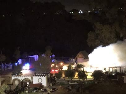 Incendio en una finca de Morante de la Puebla