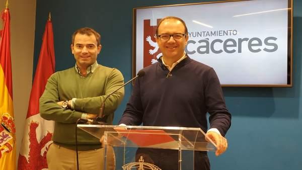 Cayetano Polo y Antonio Ibarra, concejales de Ciudadanos en Cáceres