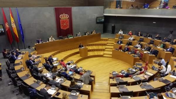 Debate sobre el Estado de la Comunidad en el Parlamento de Navarra.