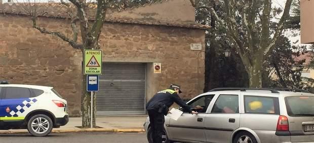 Campaña para concienciar sobre el uso del cinturón en el coche en Solsona