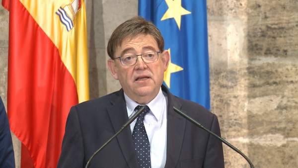 """Puig diu que Sánchez """"ha complit amb els valencians"""" i li agraïx el """"compromís"""" del Govern amb la Comunitat"""