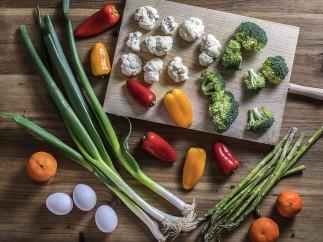Wok de verduras con mandarinas