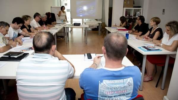 Imagen de uno de los cursos de FSC Inserta.