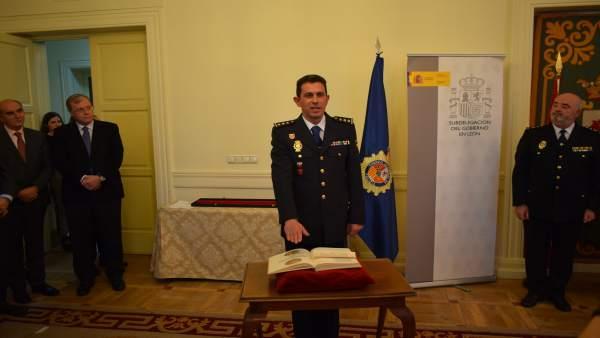 Miguel Ángel Diego Ballesteros durante la toma de posesión