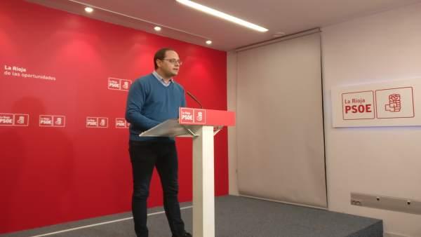 El diputado nacional del PSOE, César Luena en comparecencia de prensa