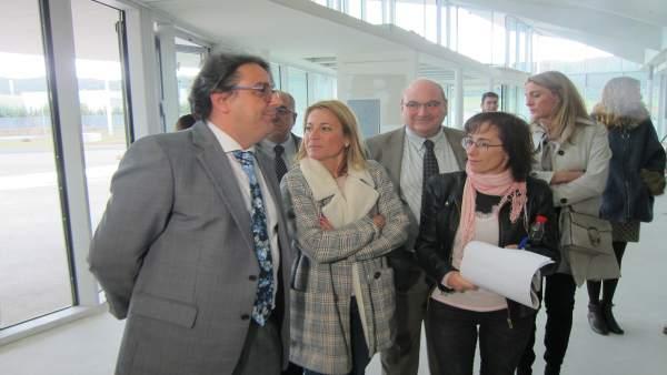 Vergeles y Nevado visitaron en octubre las obras del nuevo hospital