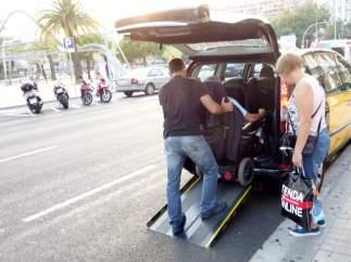 Taxi adaptado de Barcelona.