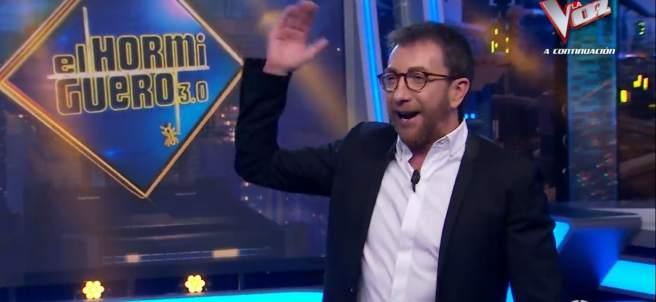 Pablo Motos, con sus gafas nuevas, en 'El hormiguero'.