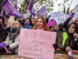 Manifestación frente al Parlamento Andaluz