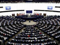 Vista general de la sesión plenaria martes 15 de enero 2019 del Parlamento de Estrasburgo.