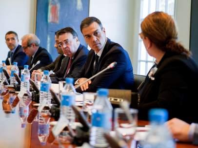 Sánchez se ha reunido este martes en Moncloa con empresarios e inversores.
