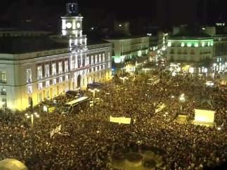 La Puerta de Sol, repleta de mujeres en su protesta contra VOX