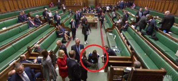 Captura de la televisión de la Cámara de los Comunes