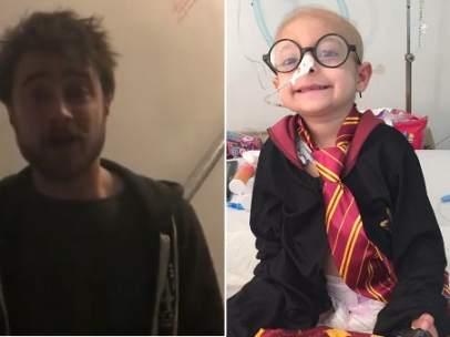 Daniel Radcliffe y la niña Gisel García