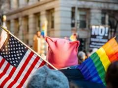 Bandera LGBT en Nueva York