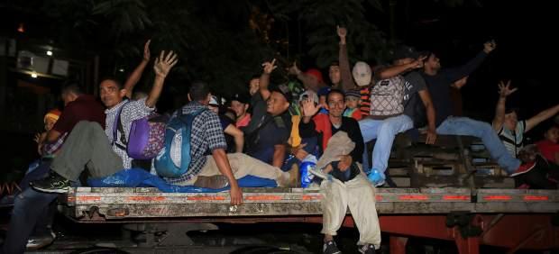 La caravana de migrantes hondureños a EE UU