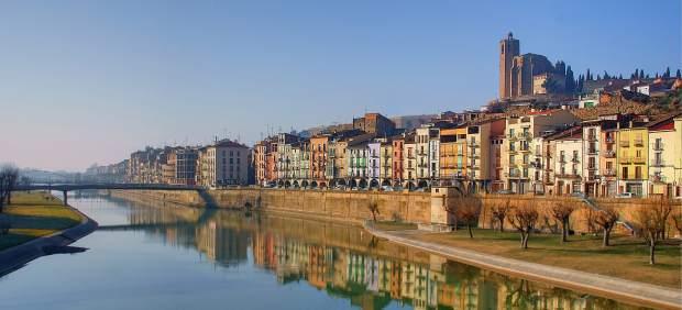 El riu Segre a Balaguer.