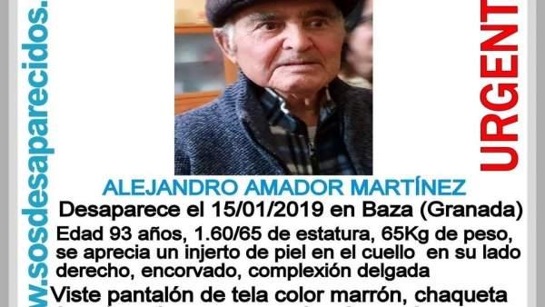 Localizado por Protección Civil un anciano desaparecido
