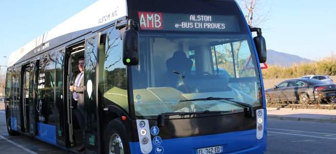 Autobús eléctrico en pruebas.