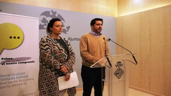 El regidor de Infraestructuras de Cort, Rodrigo Romero