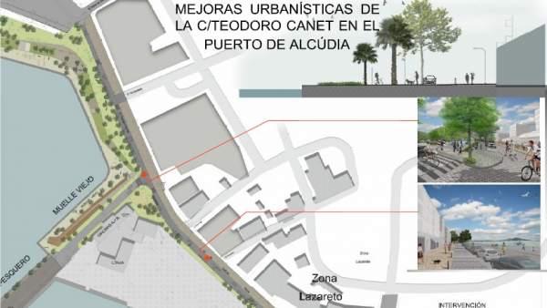 Mejoras urbanísticas en el Puerto de Alcúdia
