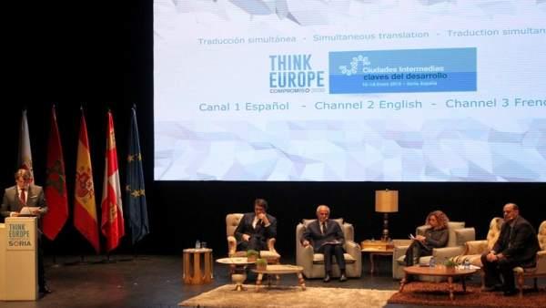 Inauguraicón de Think Europe en Soria 16-1-2019
