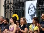 Acto por la excarcelación de Carme Forcadell organizado por la Plataforma Free Forcadell en Sabadell.