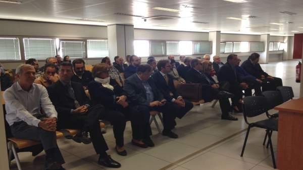 Los acusados del caso Terra Mítica en el juicio en la Audiencia de Valencia