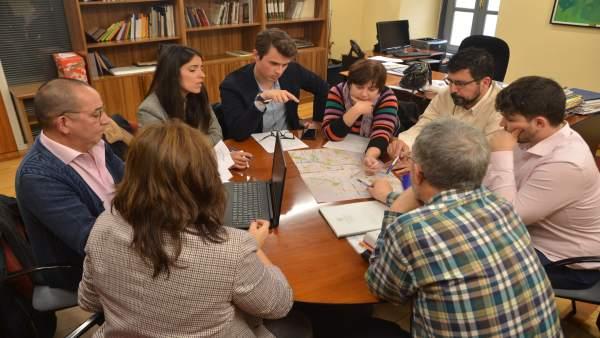 Reunión sobre la ludopatía con el concejal de Participación Ciudadana. 16-1-2019